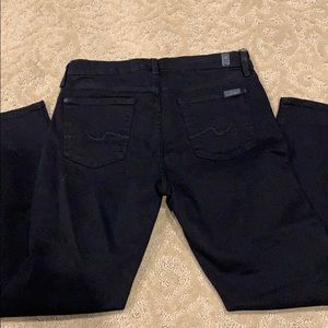 7 For All Mankind Jeans - Like New 7 for all mankind black karah crop jeans